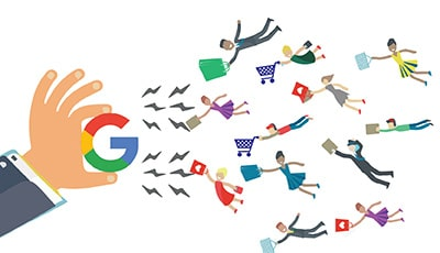 Illustration of attracting customers to website with expert SEO strategies