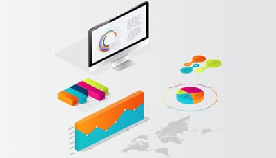 Pictographic illustration of the performance reports after Search Engine Optimization