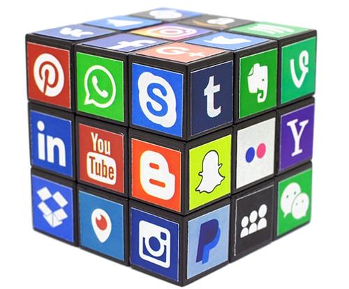 rubik cube social media logos